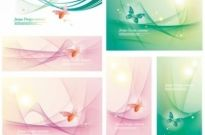 Free vector Vector background  vector fantasy background with butterflies