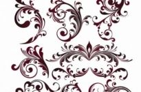 Free vector Vector floral  Vector Floral Design Elements
