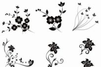 Free vector Vector floral  Vector Floral Pack 2