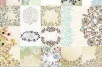 Free vector Vector background  Vector Flowers Pattern background