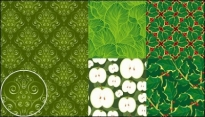 Free vector Vector flower  vector green background material