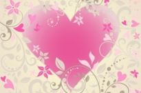 Free vector Vector floral  Vector Heart with Floral Ornament