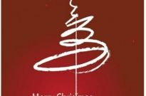 Vector merry christmas calligraphic stroke x mas card Free vector 440.78KB