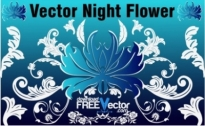Free vector Vector flower  Vector Night Flower