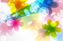 Free vector Vector flower  Vector of Abstract Colorful Flower Background