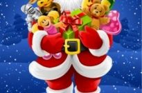 Free vector Vector misc  vector santa claus holding gifts