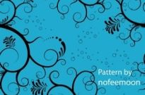 Free vector Vector floral  Vector Seamless Pattern Blue Floral