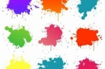 Free vector Vector background  Vector Set Of Colored Blots On The White Background