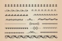 Free vector Vector misc  Vector Set of Decorative Horizontal Elements for Design