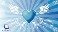 Free vector Vector background  Vector Winged Heart Background