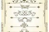 Free vector Vector misc  Vectorized Scroll Set