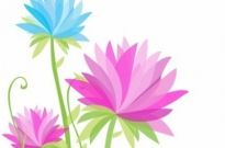 Free vector Vector flower  Vibrant Abstract Flowers