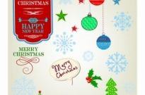 Free vector Vector misc  Vintage Christmas Elements