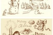 Free vector Vector Christmas  vintage christmas illustration vector
