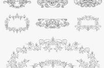 Free vector Vector floral  Vintage Floral Design Elements Vector Set