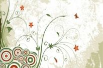 Free vector Vector floral  Vintage Swirl Floral Background Vector