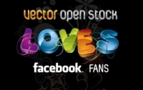 Free vector Vector Heart  We Love Facebook Fans