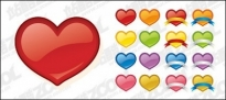 Free vector Vector icon  web2.0 style heart-shaped icon vector material