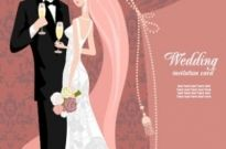 Free vector Vector background  wedding card background 03 vector