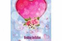 Free vector Vector background  Wedding Invitation Background