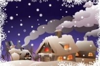 Free vector Vector Christmas  Winter Christmas Vector Illustration