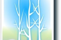 Free vector Vector clip art  winter silhoutte