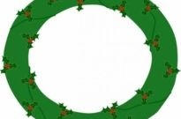 Free vector Vector clip art  Wreath Of Evergreen, With Red Berries clip art