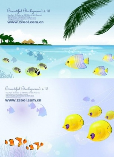 Free vector Vector misc  tropical fish theme vector