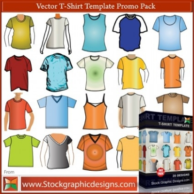 Free vector Vector misc  T–Shirt Template Free Vector Pack