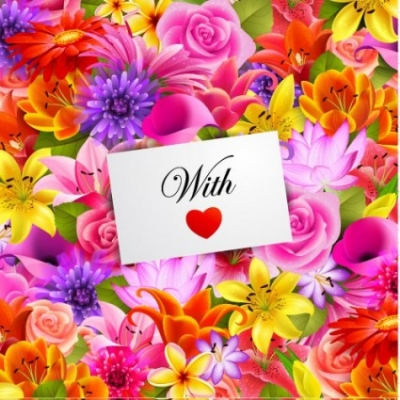 Free vector Vector flower  valentine's day flowers background 01 vector