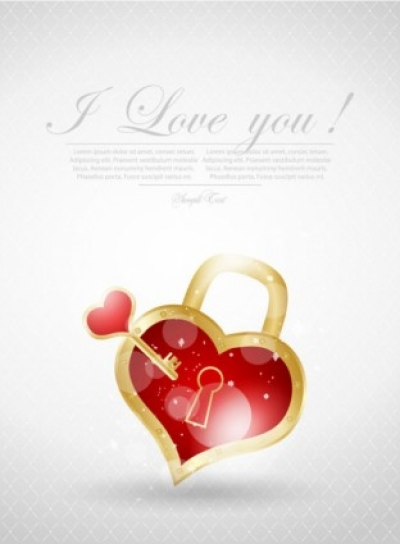 Free vector Vector Heart  valentine39s day greeting card 01 vector