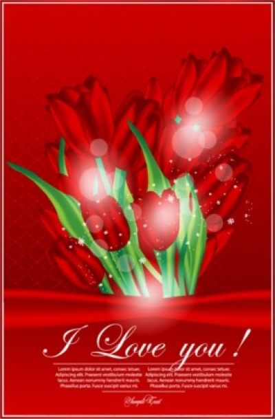 Free vector Vector Heart  valentine's day greeting card 01 vector