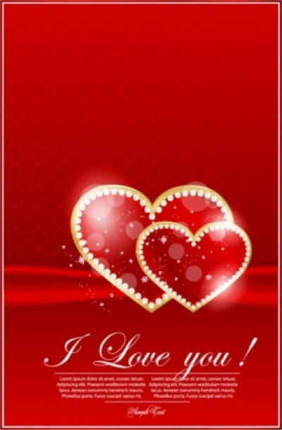 Free vector Vector Heart  valentine's day greeting card 02 vector