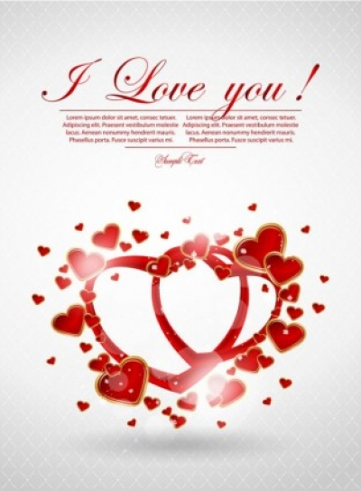 Free vector Vector Heart  valentine39s day greeting card 04 vector