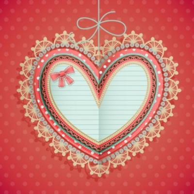Free vector Vector Heart  valentine39s day heartshaped tag 01 vector
