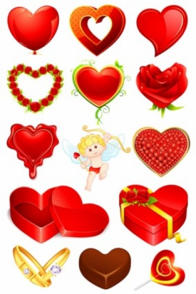 Free vector Vector Heart  valentine39s day romantic elements 02 vector
