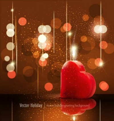 Free vector Vector background  Valentine's Day greeting card background