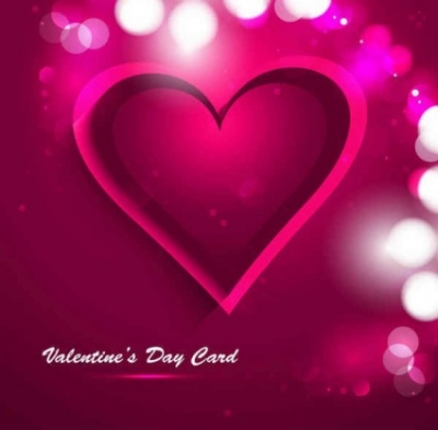 Free vector Vector background  Valentine's Day heart greeting card