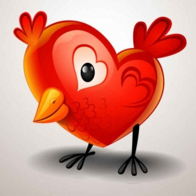 Free vector Vector background  Valentine's Day Heart-shaped chicks