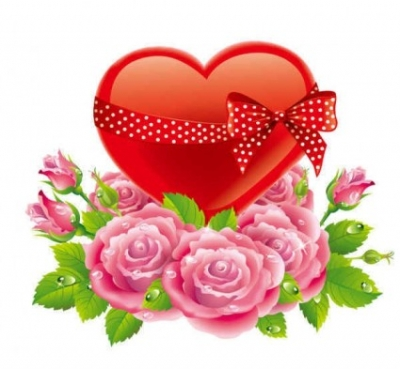 Free vector Vector background  Valentine's Day Rose Love Background