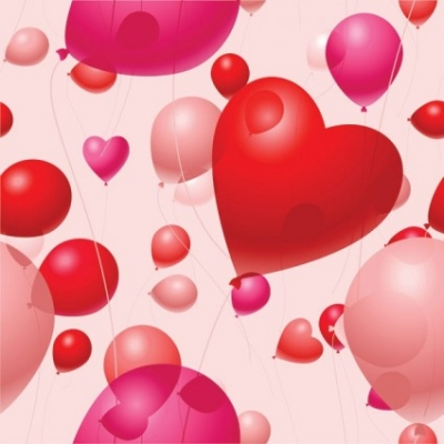 Free vector Vector Heart  valentine day balloon vector