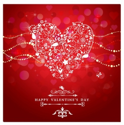 Free vector Vector Heart  Valentine Day Card