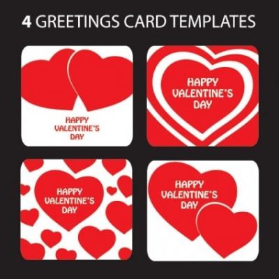 Free vector Vector Heart  valentine day heartshaped greeting card template vector