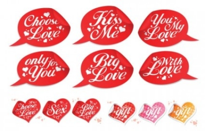 Free vector Vector Heart  valentine day special stickers vector