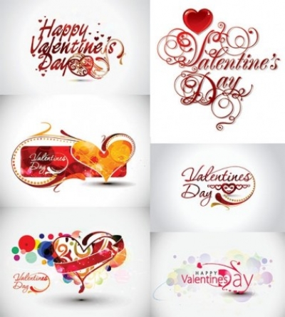 Free vector Vector Heart  valentine day word theme vector