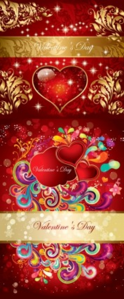 Free vector Vector pattern  valentine gorgeous pattern vector