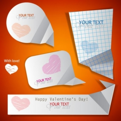 Free vector Vector Heart  valentine label elements 06 vector