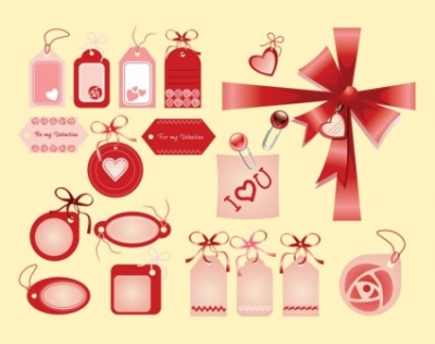 Free vector Vector Heart  Valentine Love Tags