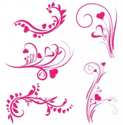 Free vector Vector misc  Valentine ornaments