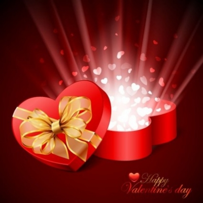 Free vector Vector Heart  Valentine's Day Card Vector Illustration